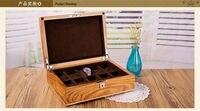 luxury fashion original wood 10 grid watch storage box wooden watch case brand watches boxes gift box watch organizer MSBH007a