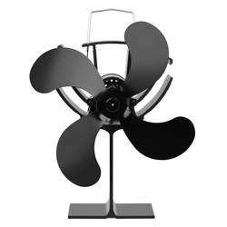 4 лопасти теплового вентилятора печи без электронного необходимого алюминиевого теплового вентилятора печи нагревать камин вентилятор