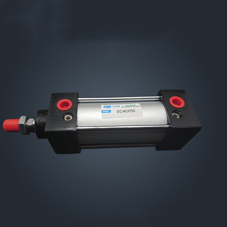 SC40*200 40mm Bore 200mm Stroke SC40X200 SC Series Single Rod Standard Pneumatic Air Cylinder SC40-200 sc40 30 sc 100 sc40 125 airtac air cylinder pneumatic component air tools sc series