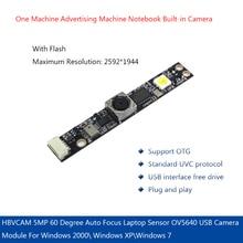 5MP 60 Degree Auto Focus Laptop Sensor OV5640 USB Camera Module For Windows 2000\ Windows XP\Windows 7 hm1355 1280x1024 1 3mp 60 degree lens usb webcam camera module board for laptop 2019hot