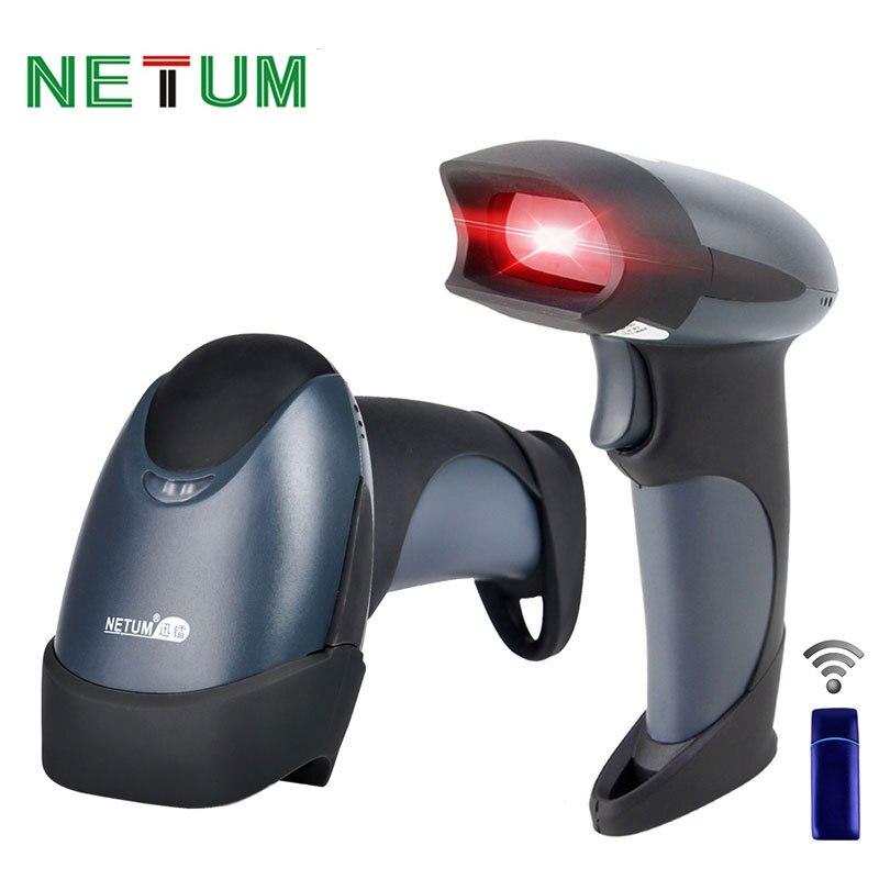 Портативный лазерный беспроводной сканер штрих-кодов NETUM NT-M2 USB 433 МГц 256кб флэш-память 3000 штрих-кодов для Windows MAC