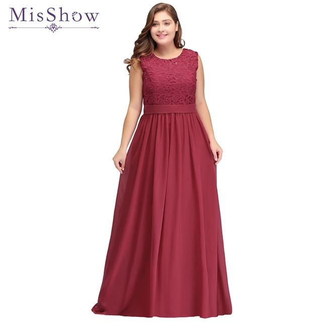 Robe De Soiree Longue Chiffon Plus size Evening Dress women elegant  Sleeveless Burgundy evening Prom Party Formal Gown 2019 New cdb8319f006b