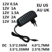 1PC AC 100-240V DC 12 V 0.5A 1A 1.5A 2A 3A convertisseur adaptateur secteur chargeur alimentation 12 V Volt pour lumière LED bandes EVD CCTV