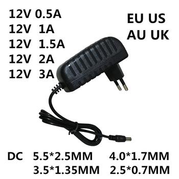 1PC AC 100-240V DC 12 V 0 5A 1A 1 5A 2A 3A konwerter ładowarka 12 V Volt dla taśmy led EVD CCTV tanie i dobre opinie Lincoiah 5 5mm * 2 5mm Switching Plug In LJH-186
