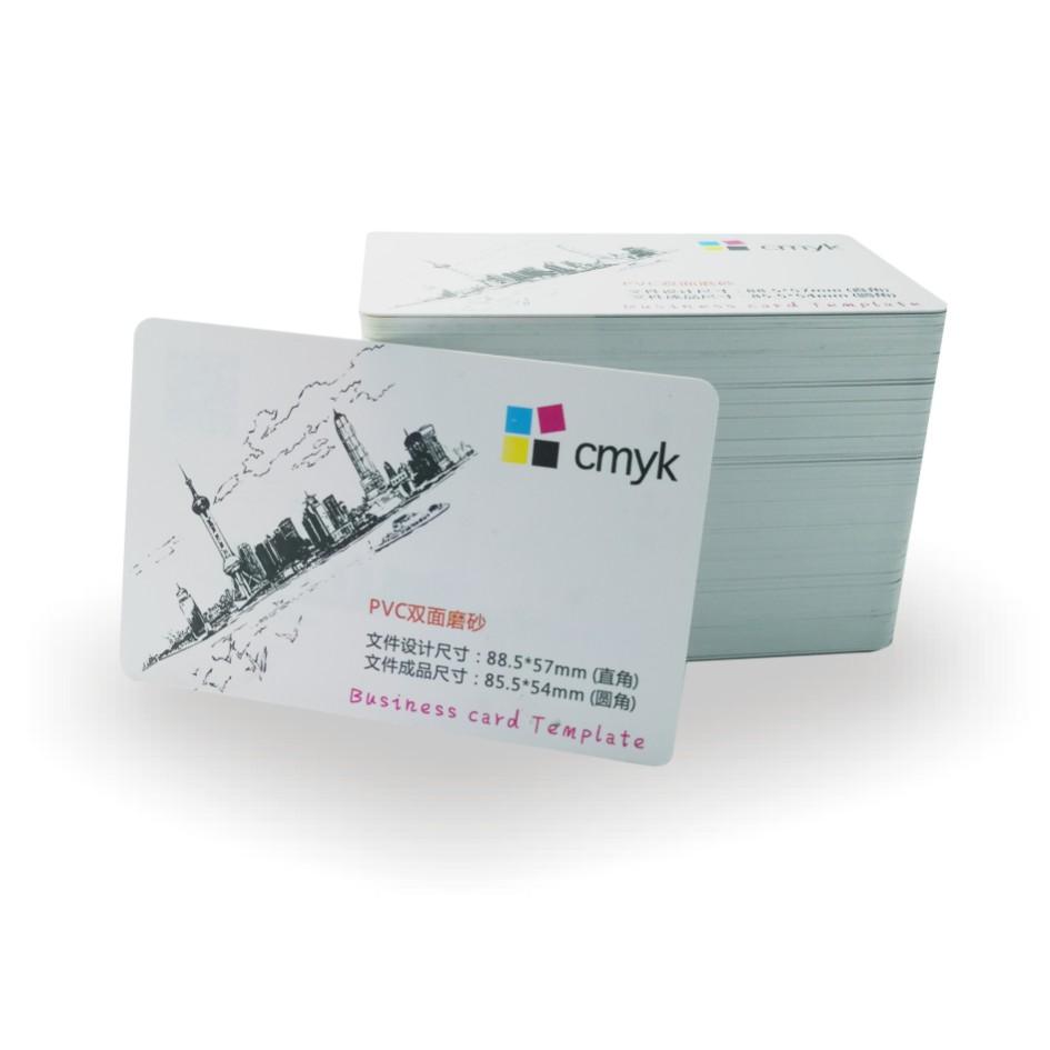Custom white pvc plastic frost Business Card print card waterproof name visiting card custom business card