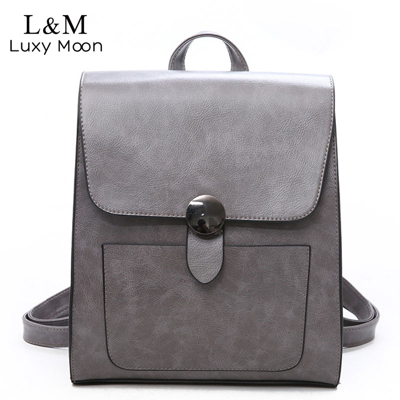 dbc60346c850 Detail Feedback Questions about Fashion Women Backpack 2018 Leather Retro  Female Bag Schoolbags Teen Girl High Quality Travel books Rucksack Shoulder  Bag ...