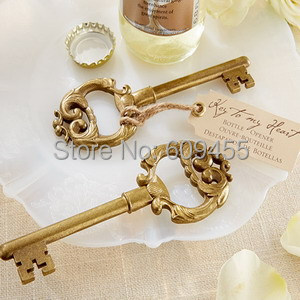 100pcslotelegant wedding accessorieskey to my heart antique wine bottle openers weddingbridal shower favorsfree shipping