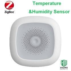 Detector inteligente de calor y humedad HEIMAN Zigbee inalámbrico que funciona con sensor de temperatura y humedad KAKU