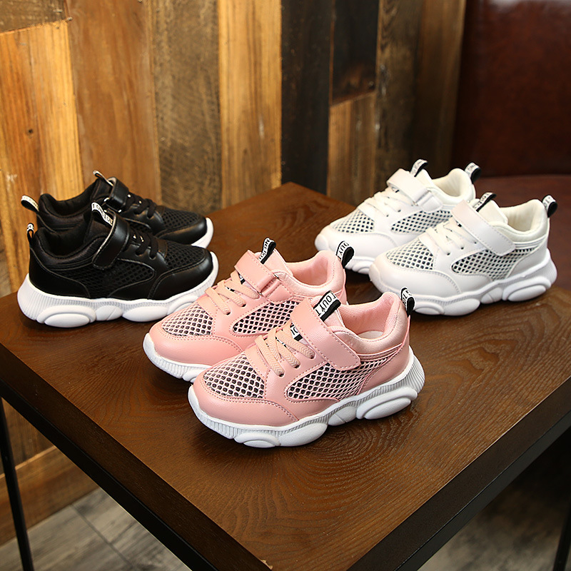 Spring Children Shoes Mesh Breathable Kids School Sneakers Boys Sports Running Shoes Casual Leather Non slip Kids Girls Sneakers in Sneakers from Mother Kids