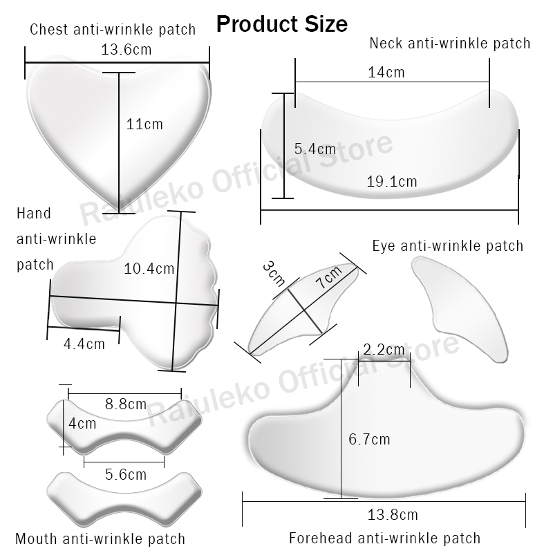 1PCS Anti Wrinkle Eye Face Pad Silicone Anti-wrinkle 100% Medical Grade Reusable Invisible Pads Eliminate Prevent Chest Wrinkle 2