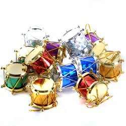 1lot/12pcs Mini Gift Box Drum Bow tie Christmas Tree Pendant Home Decor New Year Hanging Gift Ornaments Xmas Decoration 62442 3
