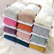 Ücretsiz kargo yeni bahar sonbahar kış pamuk örme çorapları 15 renk kadın sıcak büküm çizgili tayt 2 tasarımlar