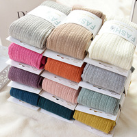 2015 Free Shipping New Spring Autumn Winter Cotton Knited Stockings 15 Color Women Warm Twist Striped