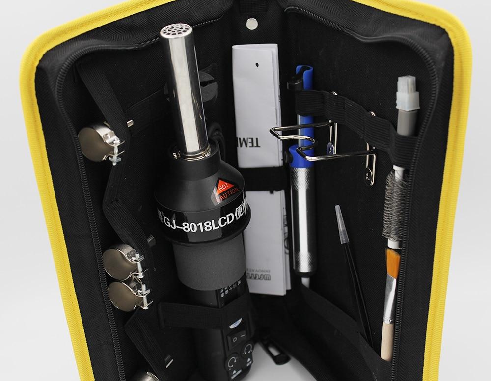 8018LCD 450W LCD Display Temperature Adjustable Hot Air Gun Soldering Station Desoldering Rework Tool Kit High