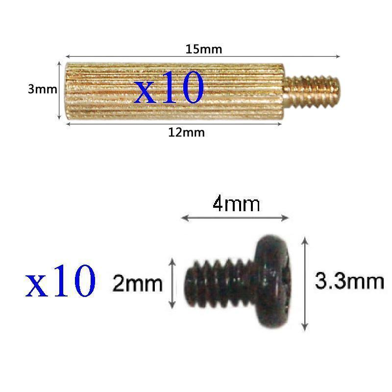 10x Standoffs (3x12mm) And Screws For Board Mount CCTV AHD TVI CVI 1080P IP WIFI IR Cameras Camera Support