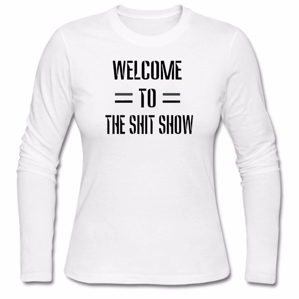 2018 Autumn Black Friday Long Sleeve Womens Welcome To The Shit Show O Neck Novelty Knitted