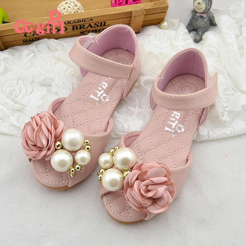 480f189ffc1 Zapatos de cuero genuino para niñas y niñas sandalias de verano Zapatos de  princesa de cuero