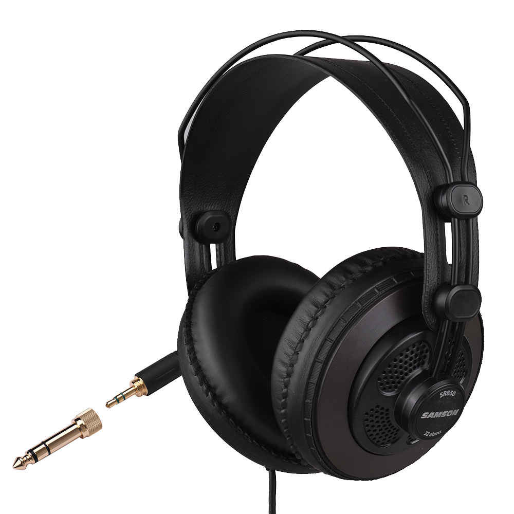 SR850 Studio Reference Monitor Headphones Dynamic Headset Semi-open for Recording Monitoring Music Appreciation Game Playing DJ oneodio professional studio headphones dj stereo headphones studio monitor gaming headset 3 5mm 6 3mm cable for xiaomi phones pc