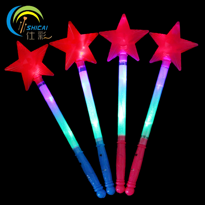 100pcs / Colorful five - pointed star light sticks concert supplies wedding party party  ...