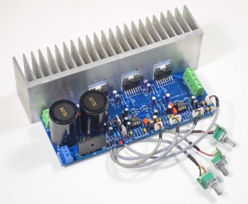 Assembled TDA7294 2.1 channel HiFi subwoofer power amplifier board with heatsink 80W+80W image