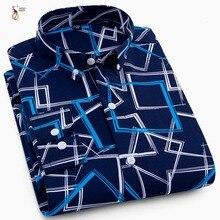 Aoliwen 2019 brand Men Print Long Sleeve Shirt plaid striped fashion High street style casual shirt men Beach slim fit