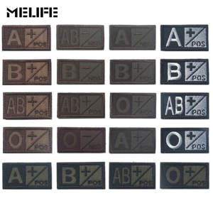 Patches Badges Military-Patch Sports-Souvenirs Group Blood-Type Positive Brown Black