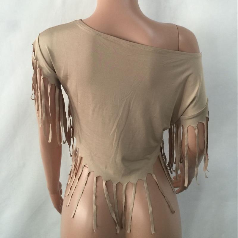 La T Femme T Kaki Top Crop Courtes Vêtements Imprimé Manches Taille shirt Chemise D'été Sexy Mode 2016 De À Plus Femmes Gland qpx8FaH45w