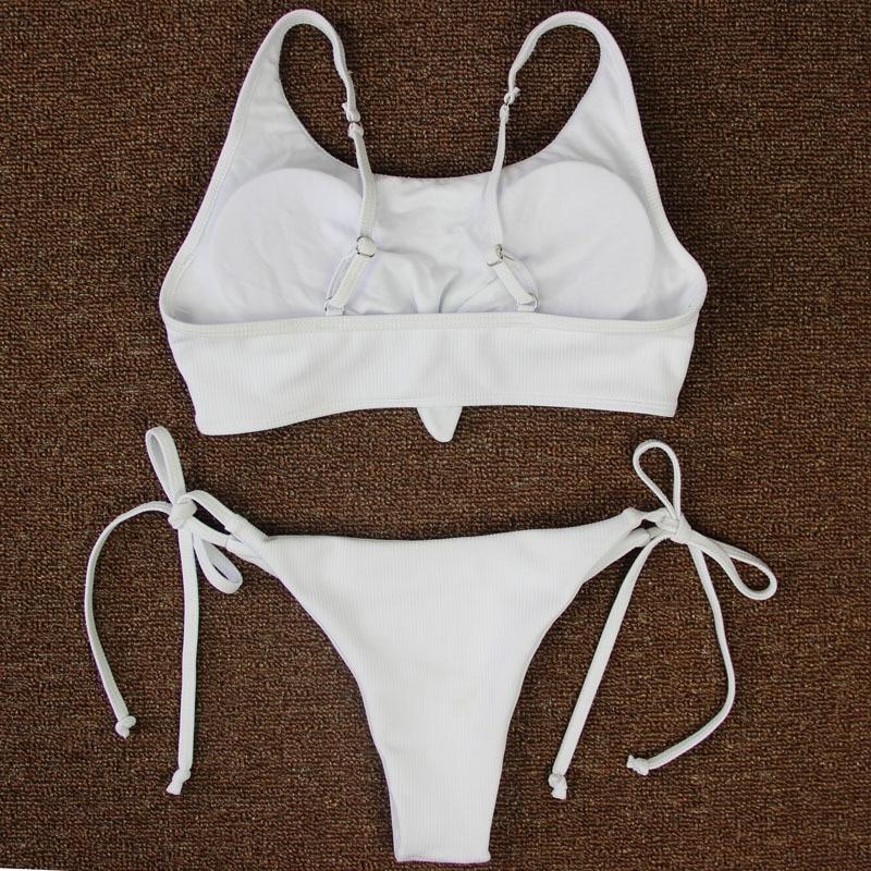 4aa534f7f5 Melphieer Brand 2018 Hot Design Swimwear Women Bikinis Sexy Ties Bottom Bathing  Suit Push Up Brazilian Bikini Solid Swimsuits