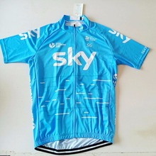2017 SGCIKER Pro team sky cycling jerseys summer Bicycle maillot breathable MTB Short sleeve quick dry bike cloth 3D GEL