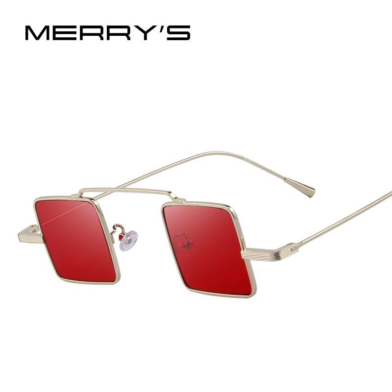 MERRYS Vintage de las mujeres/los hombres Steampunk gafas de sol cuadradas S8084