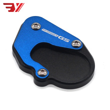With logo Motorcycle Accessories Side Stand Enlarge Plate For BMW F750GS F850GS F750 850 GS 2018-2019 CNC Kickstand Extension