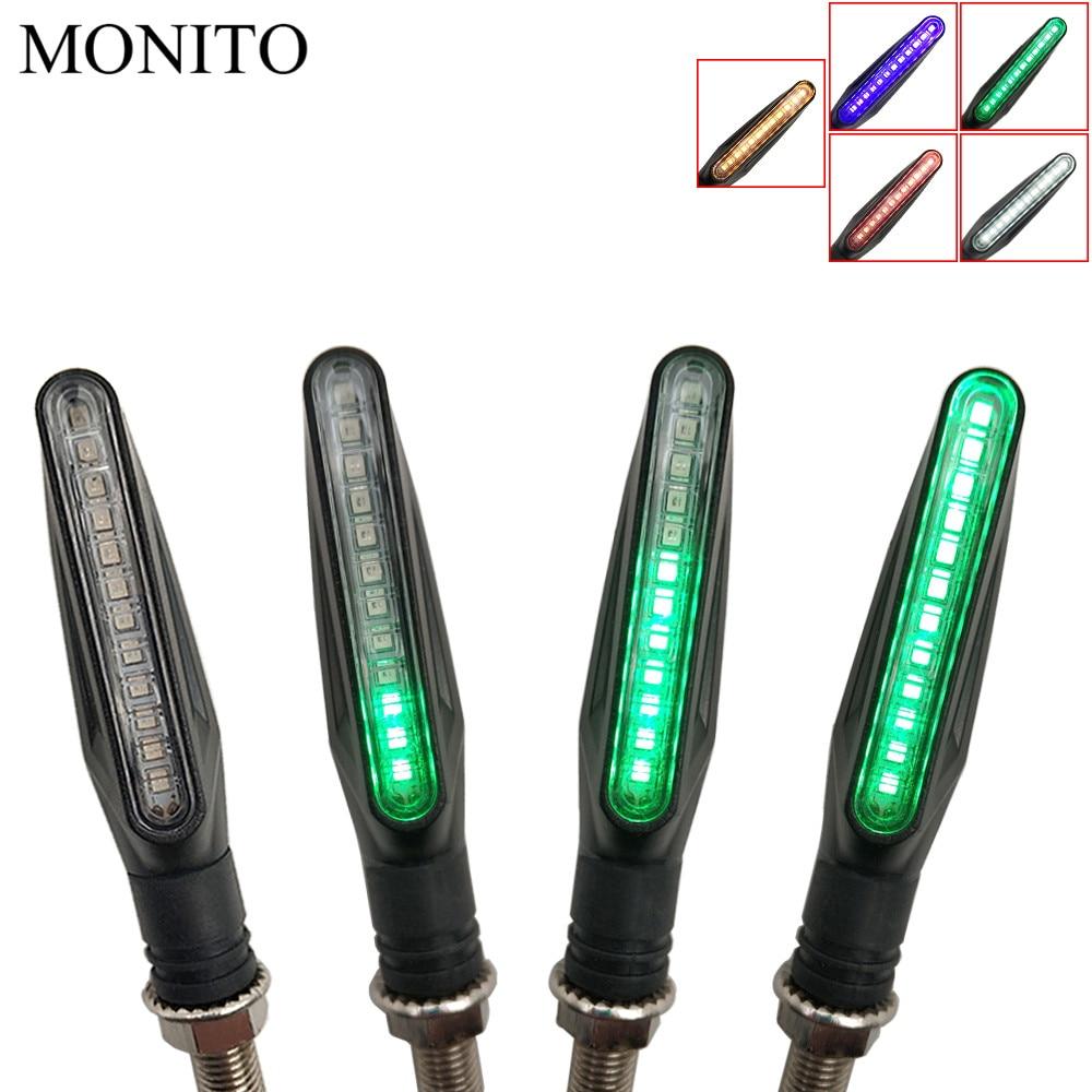 Motosiklet Dönüş Sinyalleri LED Işıkları Akan Su Titreşimsiz Flaşör lambası Triumrh 675 SOKAK ÜÇLÜ AMERIKA BONNEVILLE T120