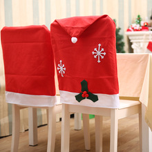 Santa Claus Snowflake Chair Covers Christmas Dinner Table Party Decoration For Dining Room Back Cover