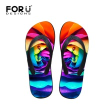 Summer 2016 Designer Women's Bright Colorful Flip Flops Women Flat Beach Shoes Ladies Girls Brand Wedges Casual Slipper Shoe