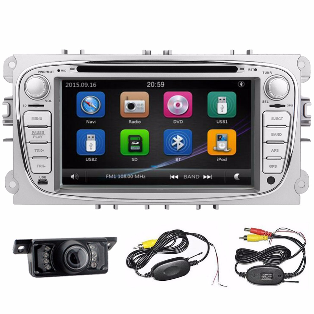Car DVD Player FOR ford FOCUS /MONDEO 2012 2013 2014 2015 Microphone BT GPS Navigation Bluetooth Radio Rear Camera included