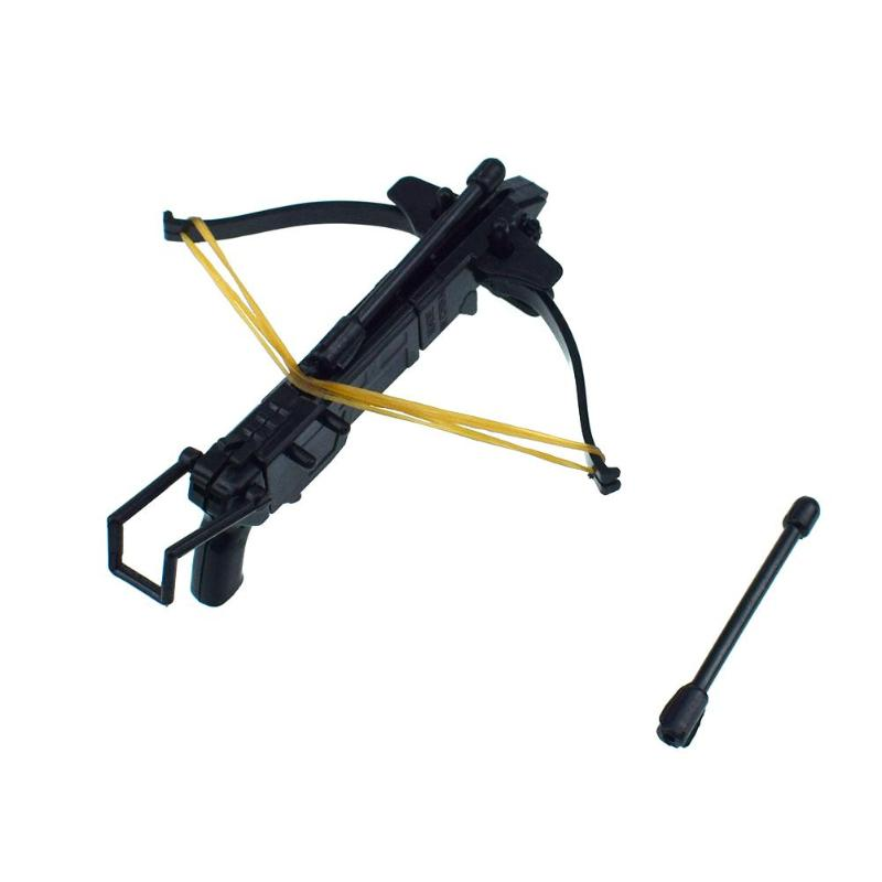 1set Diy Black Plastic Assembled Toy Rubber Band Bow Arrow Assembling Toys For Child Educative Toys Flying Outdoor Party Kid