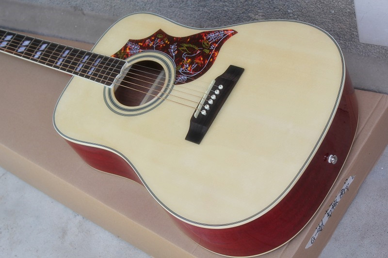 Firehawk Factory Custom Shop Burlywwod Body Side Back in Red Hummingbird Acoustic Guitar firehawk custom shop relic billy gibbons pearly gates mahogany body standard electric guitar