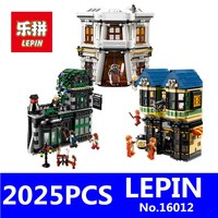 Harry Potter Magic Word Diagon Alley Model LEPIN 16012 2025Pcs Educational Building Blocks Bricks Compatible Children