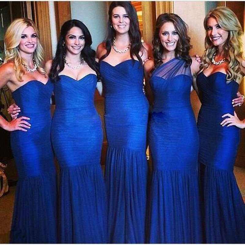 Compare Prices on Cheap Long Royal Blue Bridesmaid Dresses Plus ...