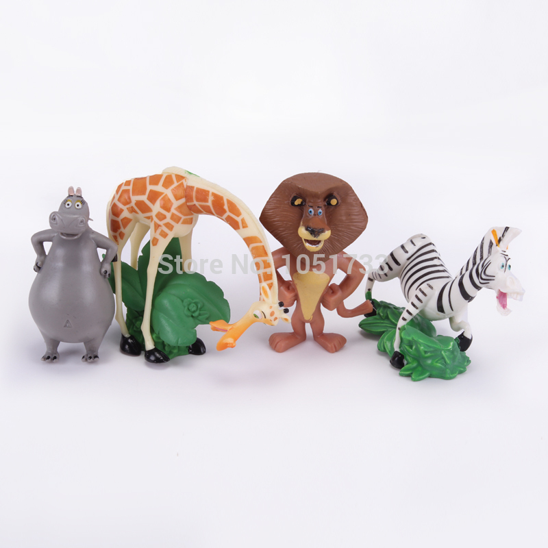 Madagascar Toys PVC Action Figures Movies & TV Toys Kids Toys Gifts for Children 5pcs/set DSFG201