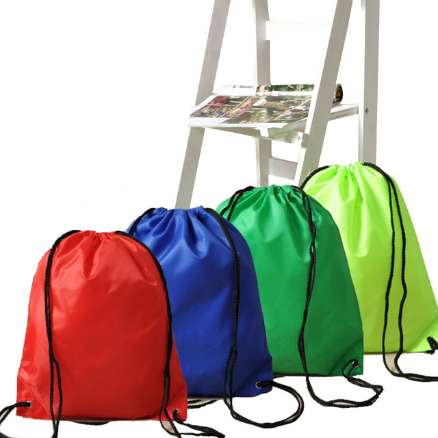 39*33CM Waterproof Nylon Storage Bags Drawstring Backpack Baby Kids Toys Travel Shoes Laundry Lingerie Makeup Pouch 8ZA390