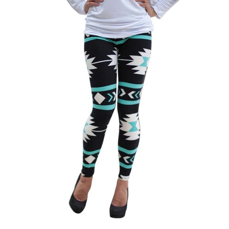 c864f05a5f48c Women Plus Size Tribal Aztec Print Leggings Multicolor Long Soft Pant 9  Colors