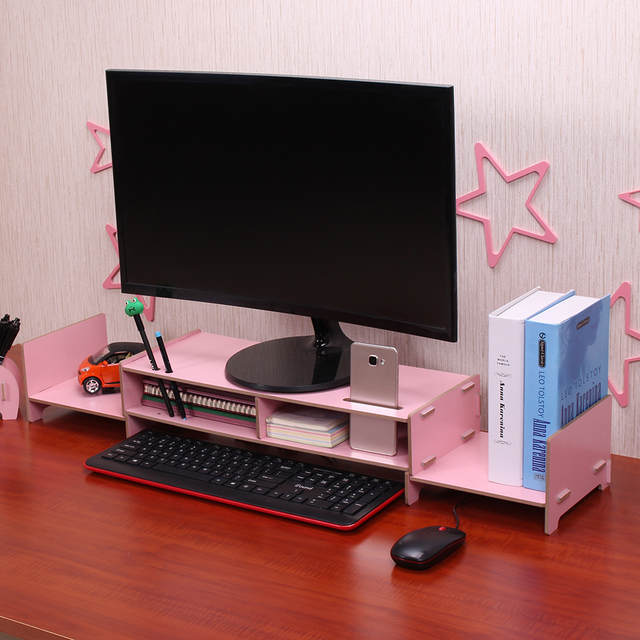 Us 29 25 30 Off Diy Multipurpose Organizer Monitor Stand Riser Large Desk Organizer Wood Transformable Design For Office School Home In Desk Set