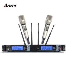 Skilled handheld  KTV Karaoke Double Conversion Tremendous Heterodyne Microphone Wi-fi SKM9000