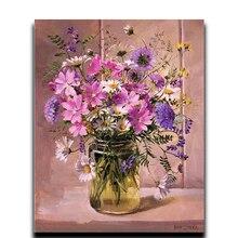 купить DIY Handicraft Diamond Cross Stitch 5D Round Icon Embroidery Full Diamond Rhinestone Mosaic Vase Pink Painting дешево