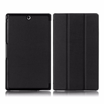 Smart Cover Case for Sony Xperia Z3 8-Inch Tablet with Auto Sleep/Wake Function Stand Flip Folio Leather Protective Cover for Z3 image