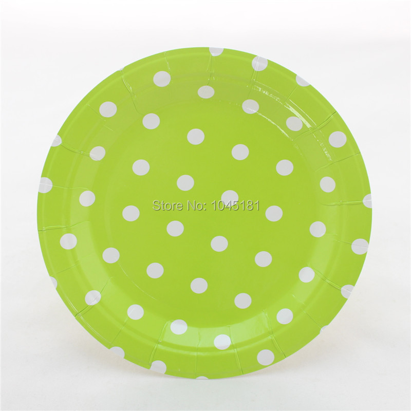 Aliexpress.com  Buy ipalmay 1200 pcs/lot Hot Sale 9\  Round Paper Plates Polka dot Dinner Set Birthday Party Decoration from Reliable decorative decorative ... & Aliexpress.com : Buy ipalmay 1200 pcs/lot Hot Sale 9\