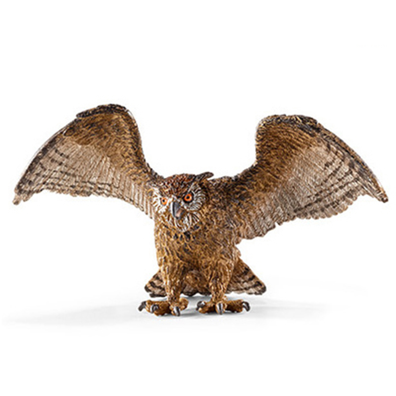 11CM Wild Eagle Owl PVC Animal Models Action Figures Learning Tools Cheap Toys For Children Gifts 12pcs set children kids toys gift mini figures toys little pet animal cat dog lps action figures