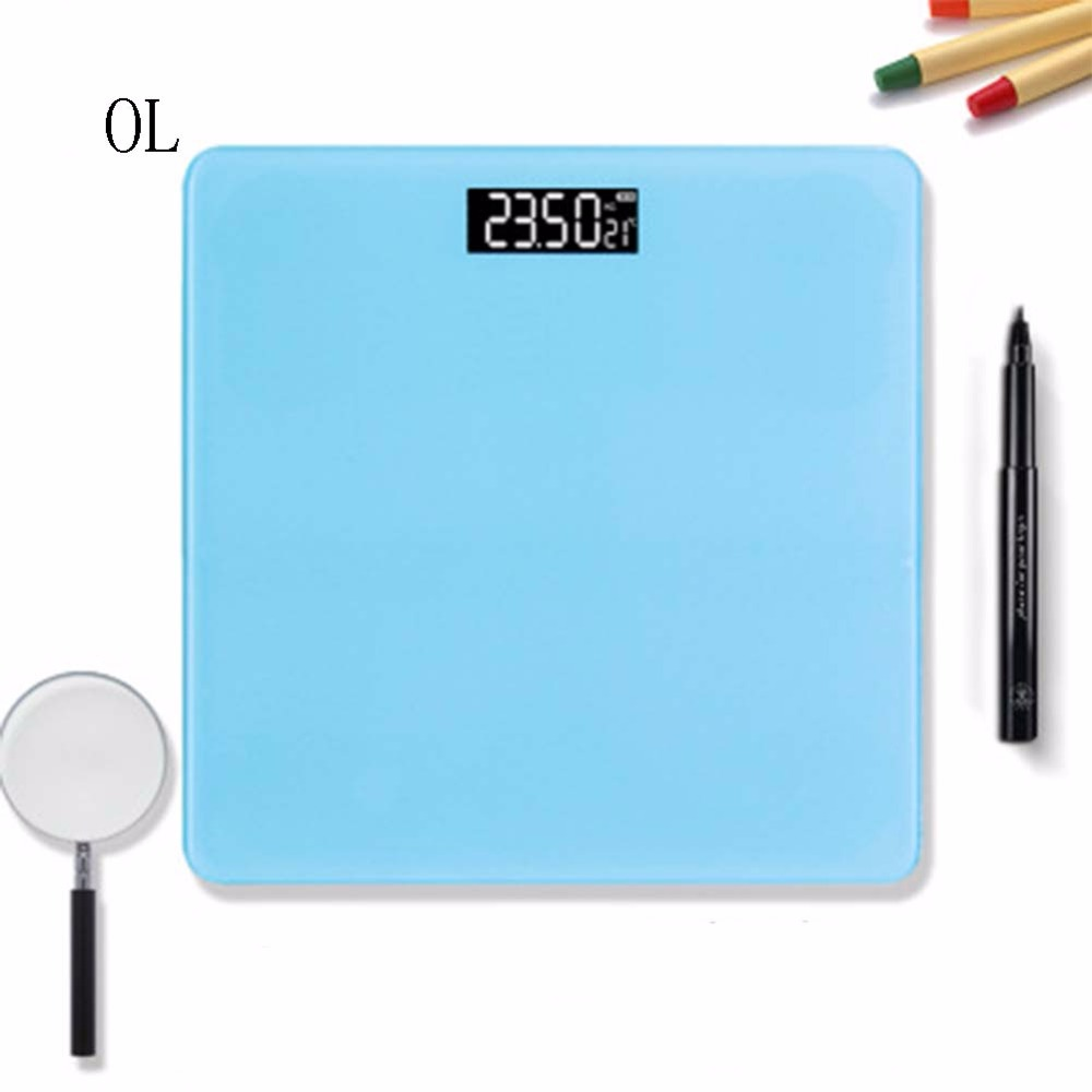 OL A2 bathroom glass body scale smart home electronic LCD display digital floor weight balance bathroom bathroom weighing 200 kg