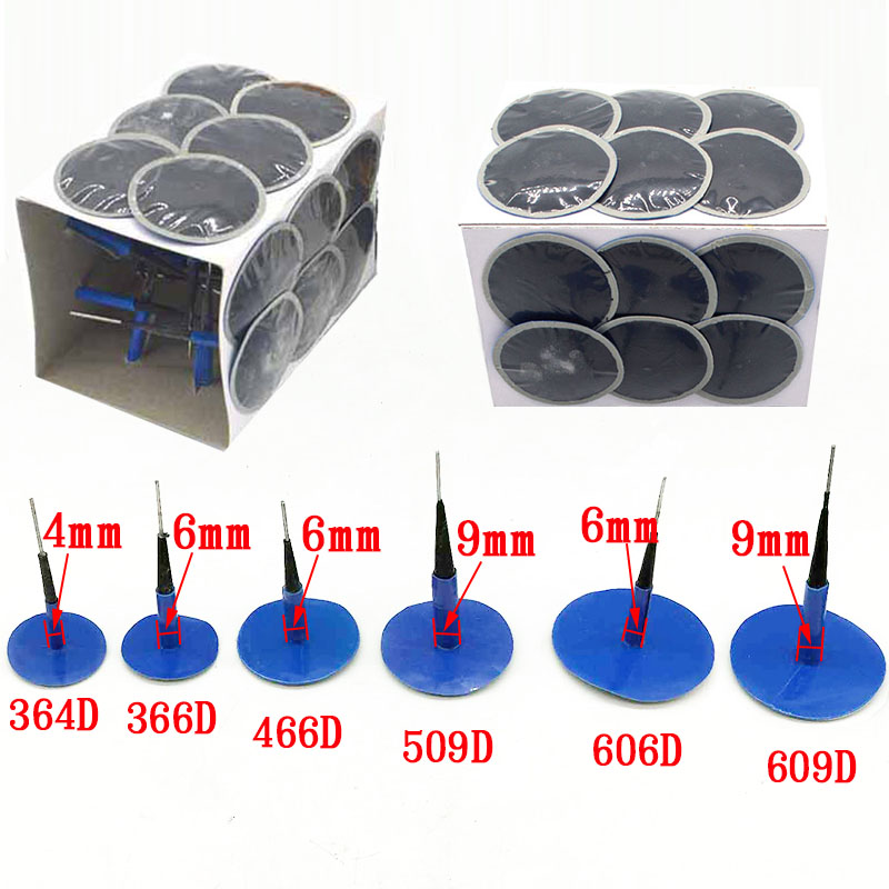 24pcs/boxof Mushroom Nail-tyre Film Tyre Cold Patch Film Rubber Stitching Machine Tire Repair Kit Integral Plug Of Mushroom Nail